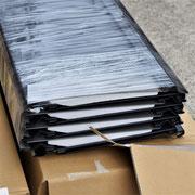 ⑤被せる「SGL」葺材。防錆力がさらにアップした遮熱材入ガルバリウム形成品。