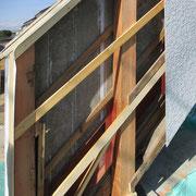 ⑤木枠を取り替え、防蟻剤を塗布し、