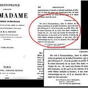 """Brunet M. G. """"Correspondance de Madame Duchesse d'Orléans"""", Paris Charpentier , Libraire – Éditeur, Tomo II. 1863, p. 354"""