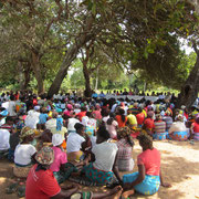 community meeting at Chitondo primary school