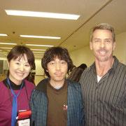 レベル3の終了日に、ケリー先生と、当時、教師見習いだった稲本さんと。