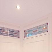 hoekappartement eerste verdieping: raamdetails interieur