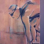 Nach uns die Sintflut (Detail) (Acryl auf Leinwand, 50x50 cm) elliottism Acrylmalerei