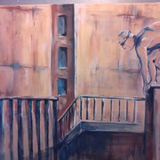Nach uns die Sintflut B (Acryl auf Leinwand, 50x50 cm) elliottism Acrylmalerei