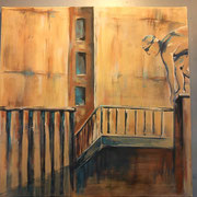 Nach uns die Sintflut A (Acryl auf Leinwand, 50x50 cm) elliottism Acrylmalerei