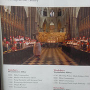 Chorreise nach London, Westminster Abbey, UK