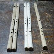 木製横笛LOWD管指孔あけ 仕上げペーパーかけ