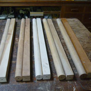 木製横笛LOWD管 木取り