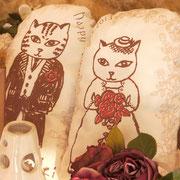 ウエルカムドール猫夫婦のスナップ