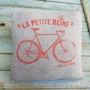 coussin t-shirt vélo