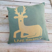 coussin t-shirt cerf