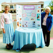 Margie Duey (chairperson) and Marie Marine of the Sacred Heart Respect Life Ministry