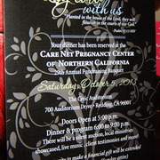 Care Net Banquet is Saturday, October 5th, in the Redding Civic Center
