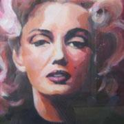 Marilyn Monroe 50x70 cm  Acryl auf Papier