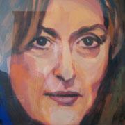 Meryl Streep  50x70 cm  Acryl auf Papier
