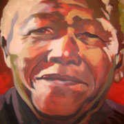 Nelson Mandela  80 x 60 cm