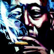 Zigarrenraucher, 60 x 80 cm, Acryl