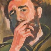 Fidel Castro, 60 x 80 cm, Acryl