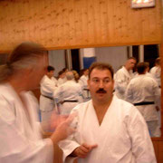 Links: Didi Haas senior, rechts: Sensei Toni Costa La Perm, Leiter Dojo Loky Ryu, St. Eulalia / Ibiza