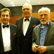 Unser künstlerischer Leiter, Bernd Dietrich, mit den Vorständen