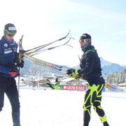 Cyrille Miranda et Vincent Meilleur, test de ski