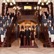 """Asie, Singapour le 12 juillet, hall de l'hôtel """"Raffles"""""""