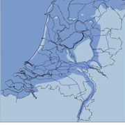 The Netherlands, the Low Lands. More than 50% of Dutch people live below sea level or in the floodplain (if there where no dikes). Copyright: Rijkswaterstaat