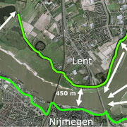 The bottleneck between Nijmegen and Lent. Copyright: Gemeente Nijmegen