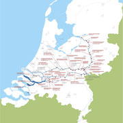 National policy Room for the river: an overview of the projects. Copyright: Rijkswaterstaat