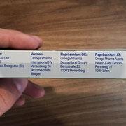 Opticalm Augentropfen Herstellerangaben