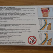 ausführliche Produktbeschreibung Blepha Cura Wärme Gel Maske