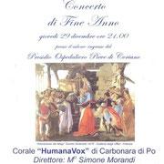 29 dicembre 2016 - Concerto di fine anno a Pieve di Coriano