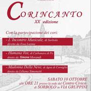 """Rassegna """"Cori in canto"""" a Sorbolo (Pr) il 10 ottobre 2015"""