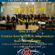 18 dicembre 2016 - Concerto di Natale a Sustinente