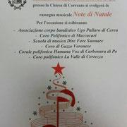 Martedì 26 dicembre ore 17 - Correzzo di Gazzo Veronese (Vr) - Rassegna Corale