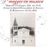 19 maggio 2016 - Chiesa Parrocchiale - Bonizzo di Borgofrancosul Po (Mn)