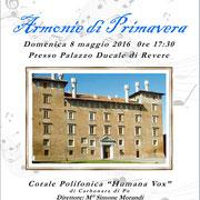 8 maggio 2016 -Palazzo Ducale - Revere (Mn)