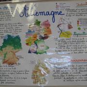 Die Deutschlandwand in der französischen Schule