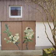 Kirschblüte auf Holz