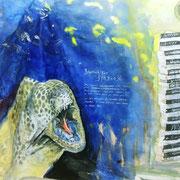 Muräne mit Putzergarnele + der Bockshorn auf Tyvek