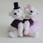 """Teddys """"Charles und Diana""""(verkauft)"""
