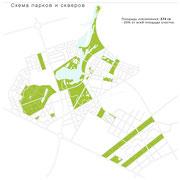 Схема основных зеленых зон