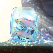 3枚目「イルカ」 2019.7.3 2時間 CLIP STUDIO PAINT