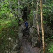 White Mountain National Forest - enge Schluchten
