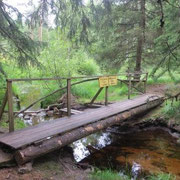 Fußgängerbrücke nach Norwegen