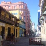 In den schönen Touristenvierteln