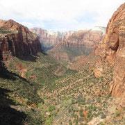 Auf dem Canyon Overlook Trail