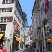 In den Straßen von Zürich