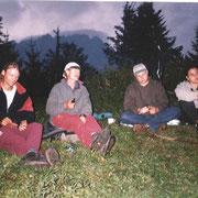 Jürgen und Georg am Lagerfeuer