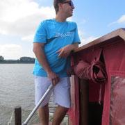 Kapitän Jan bei der Arbeit